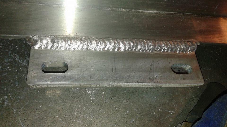 welded metal on site