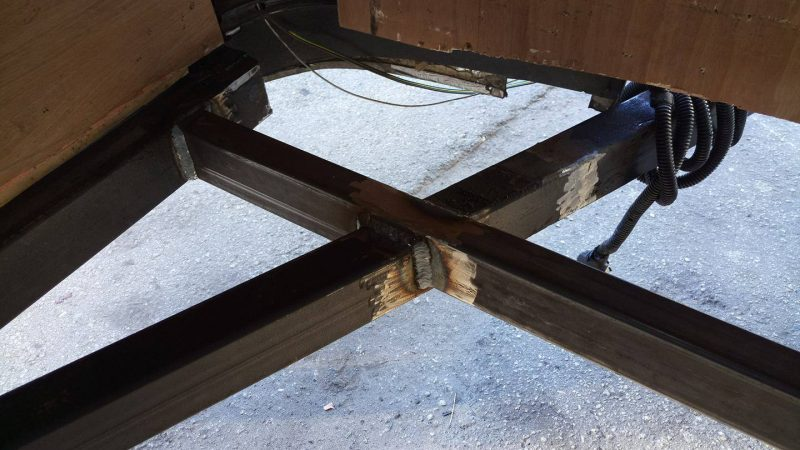 trailer frame repaired and welded