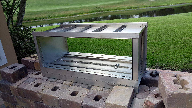 aluminum welded on site
