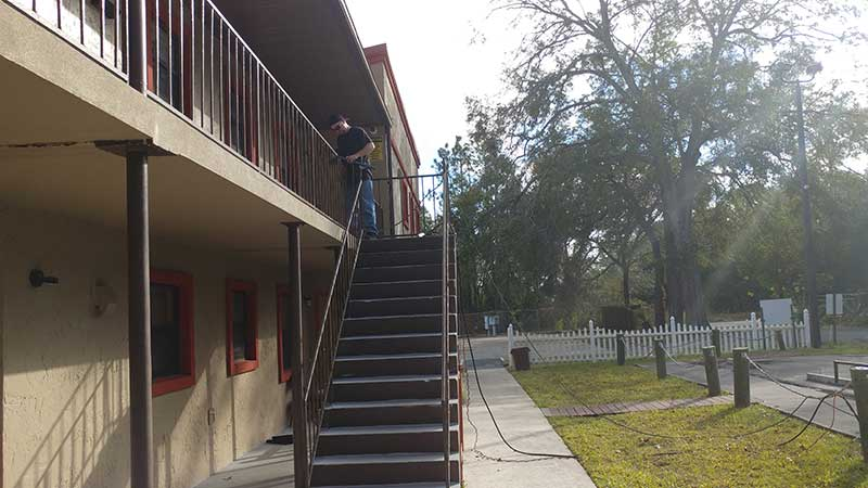 Repairing rusted stair rails