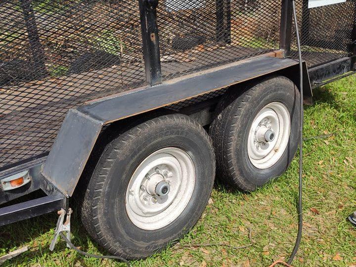Custom built heavy duty trailer fenders